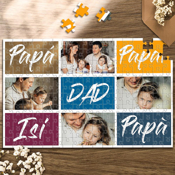 Custom Photo Jigsaw Puzzle Best Indoor Gifts 300-1000 pieces | Gift for Father's Day