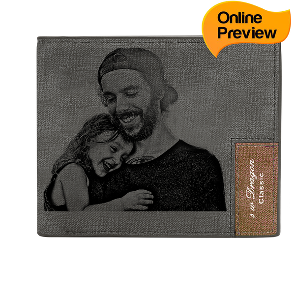 Men's Custom Photo Wallet - My Tender Father (Design Online & Preview)