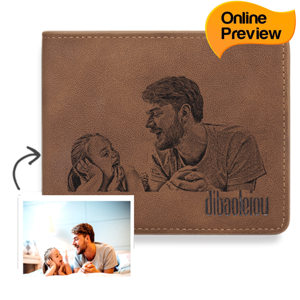 Men's Custom Photo Wallet - Best Gift For Father (Design Online & Preview)