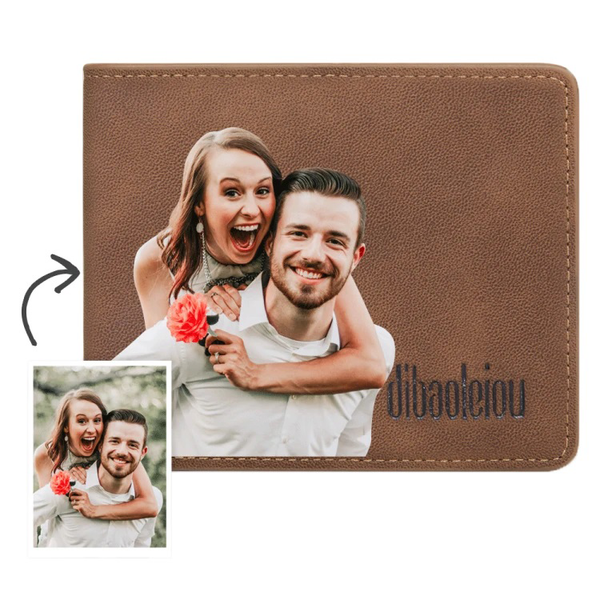 Men's Custom Photo Wallet Color Printing