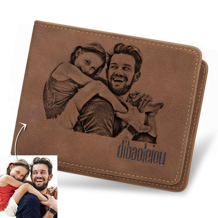 Men's Custom Photo Wallet - Best Gift For Father