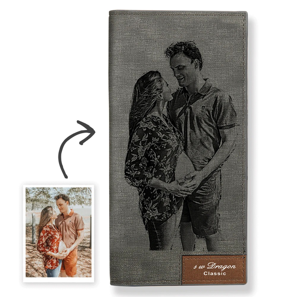 Women's Custom Photo Wallet Grey