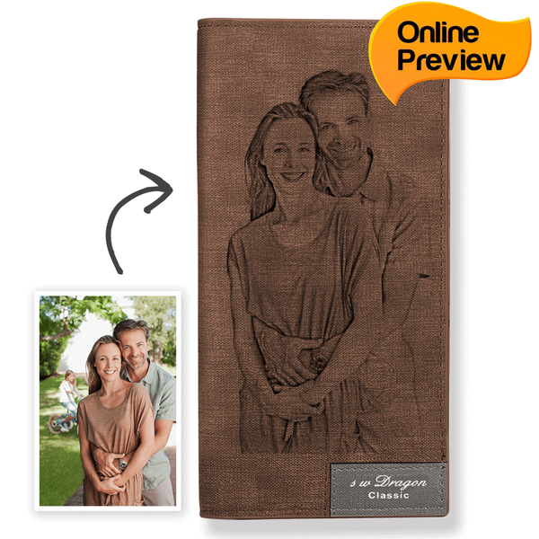 Women's Custom Photo Wallet Brown (Design Online & Preview)