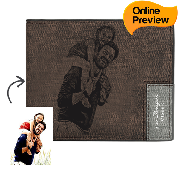 Men's Custom Photo Wallet - Happy Moment with Dad (Design Online & Preview)