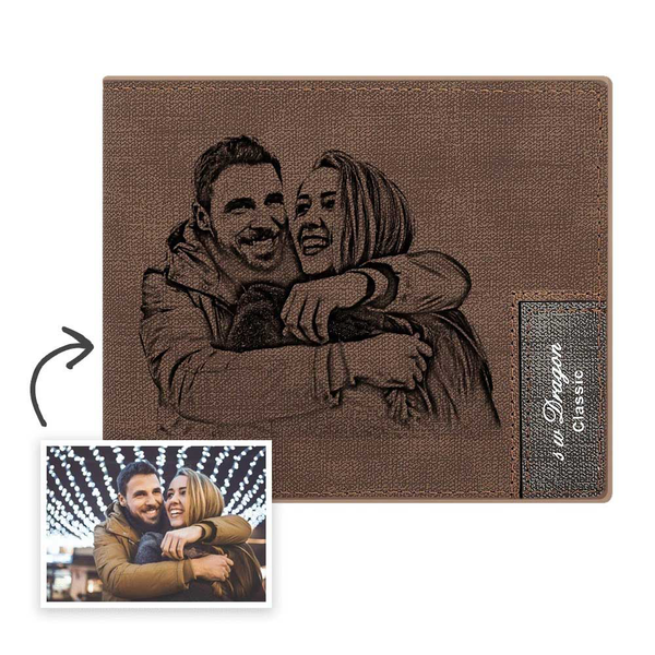 Men's Custom Photo Wallet - I Love My Dad
