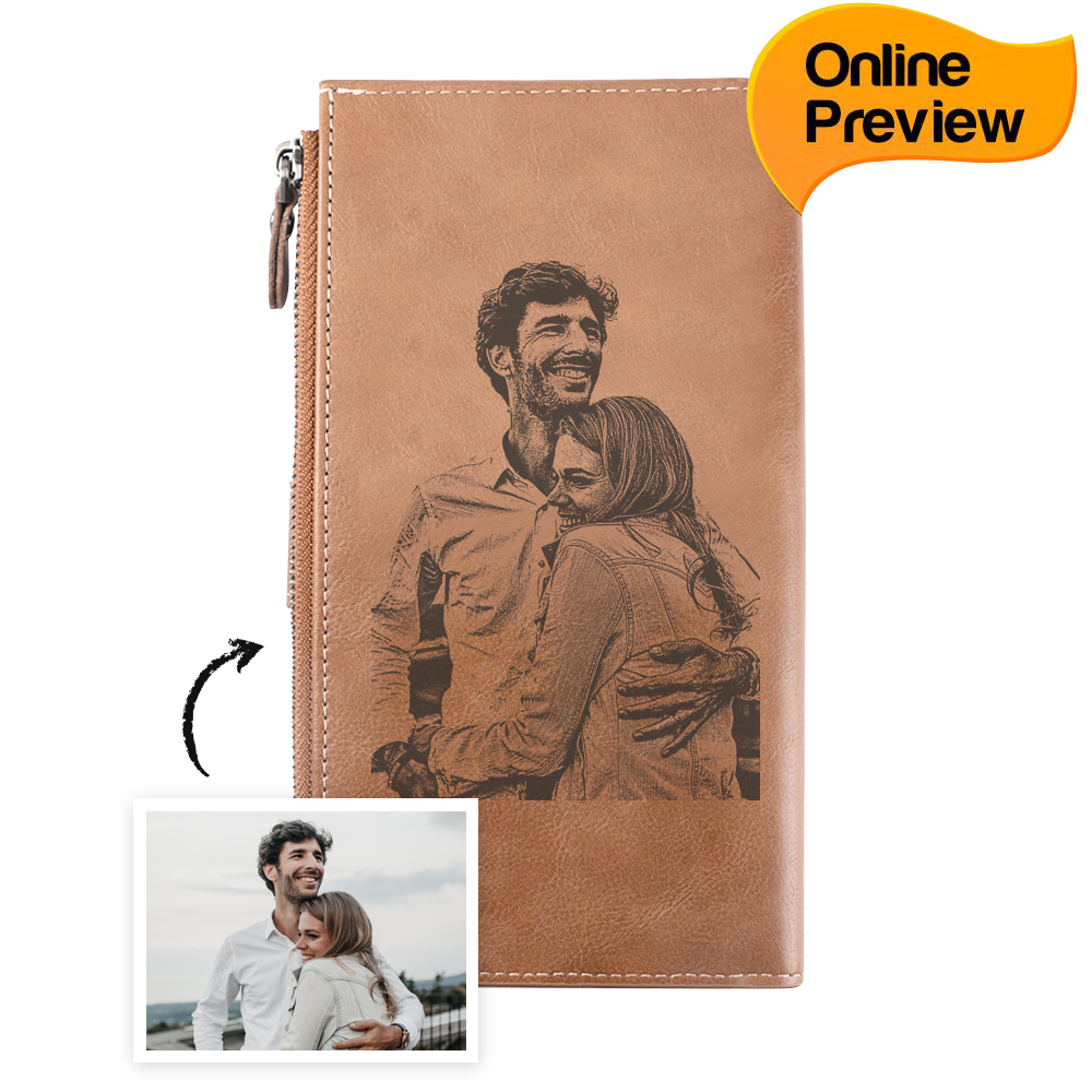 Bifold Custom Photo Wallet Long Style - Cross (Design Online & Preview)
