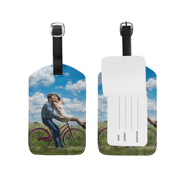 Custom Photo Luggage Tag for Couple