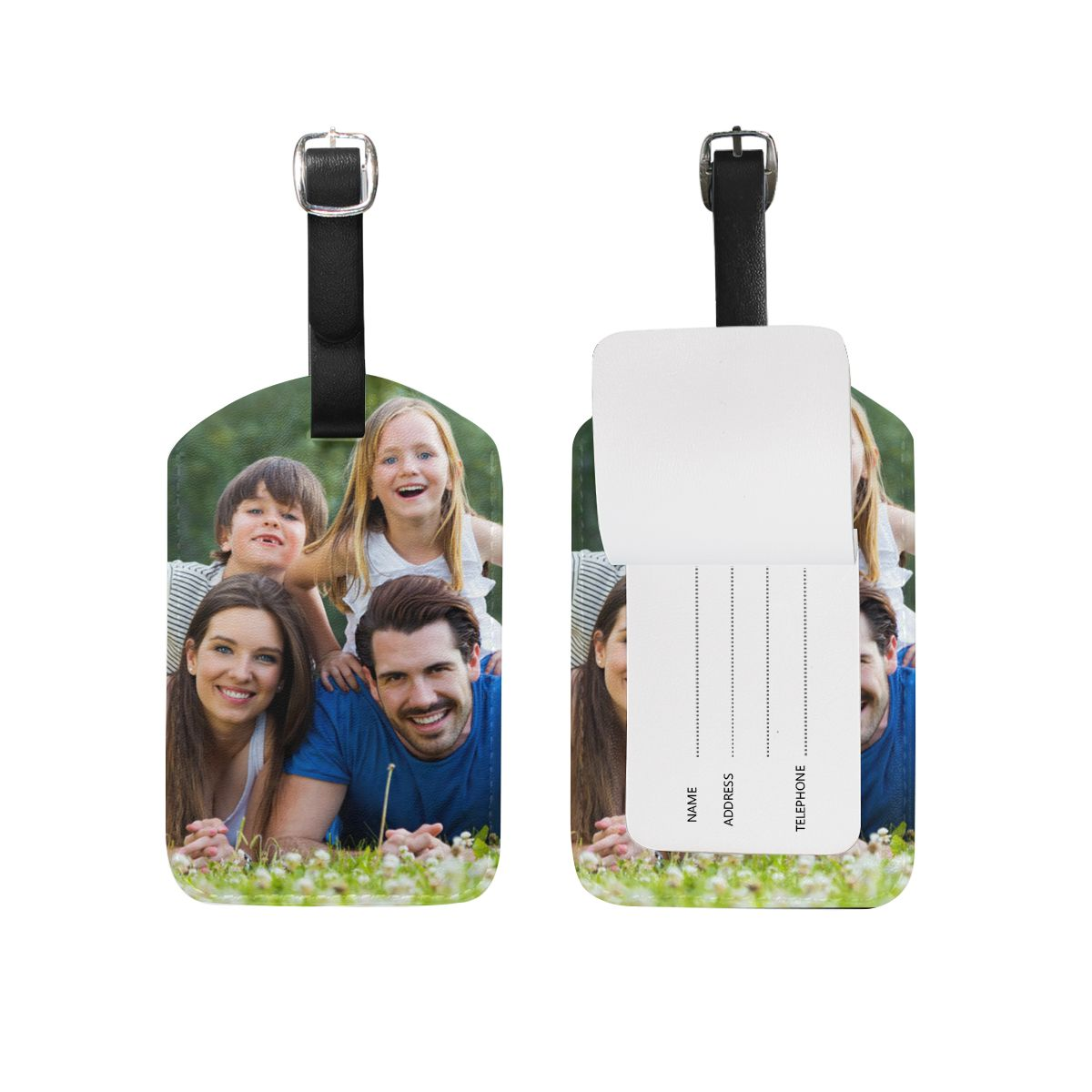 Custom Photo Luggage Tag  for Family