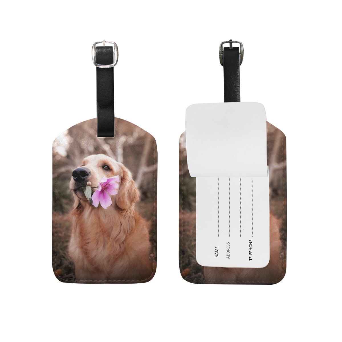 Custom Photo Luggage Tag Traveling with pet
