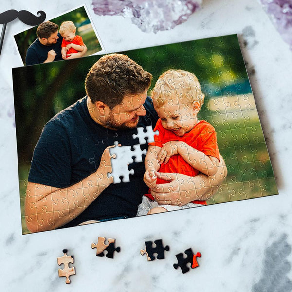 Custom Photo Jigsaw Puzzle Best Indoor Games For Best Father 35-1000 pieces