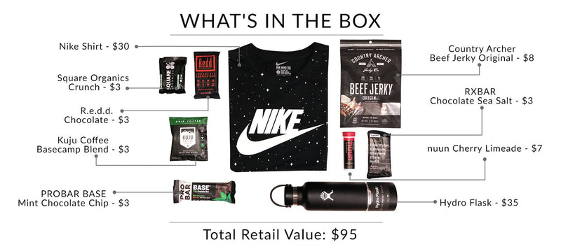 what is in the box nike hydroflask sample
