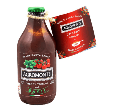 Cherry Tomato Sauce with Basil 330g - TAYYIB - Agromonte - Lahore