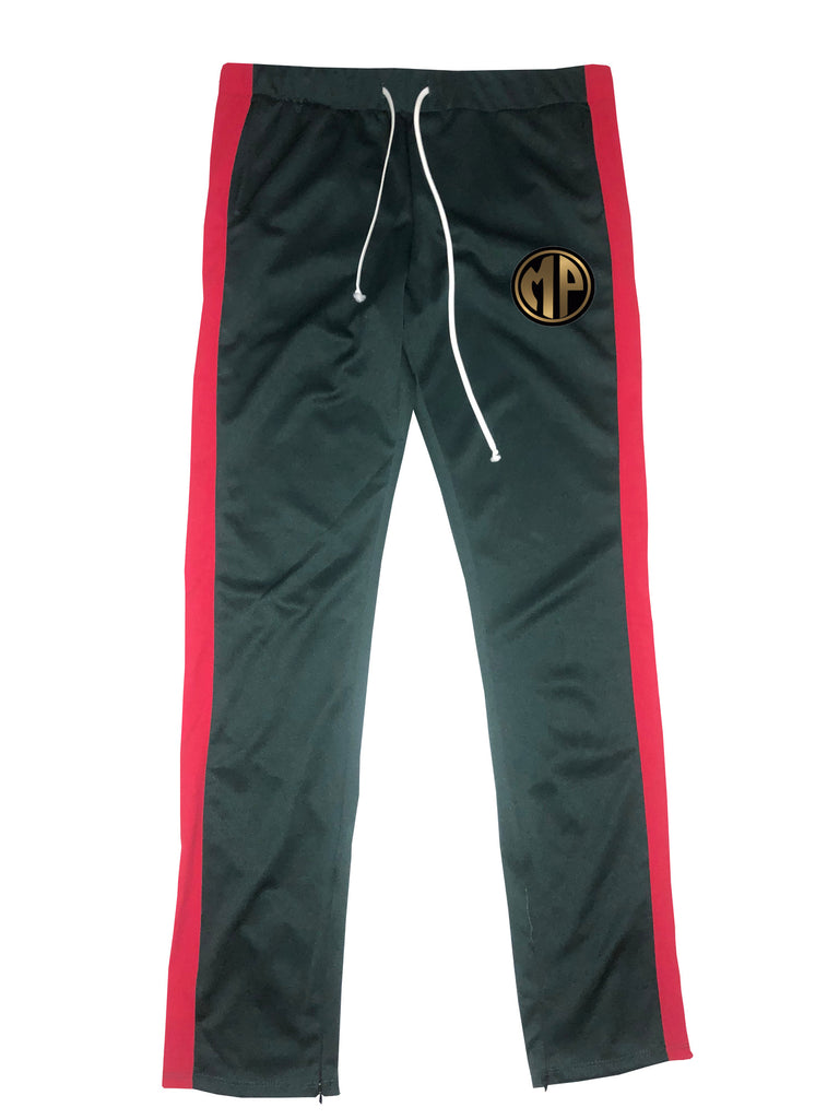 (Uni-sex) Green & Red Jogger Pants