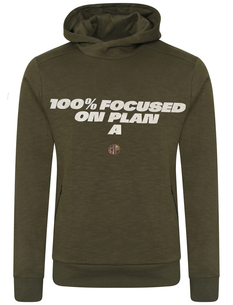 "Olive Green ""100% Focused On Plan A"" Hoodie"