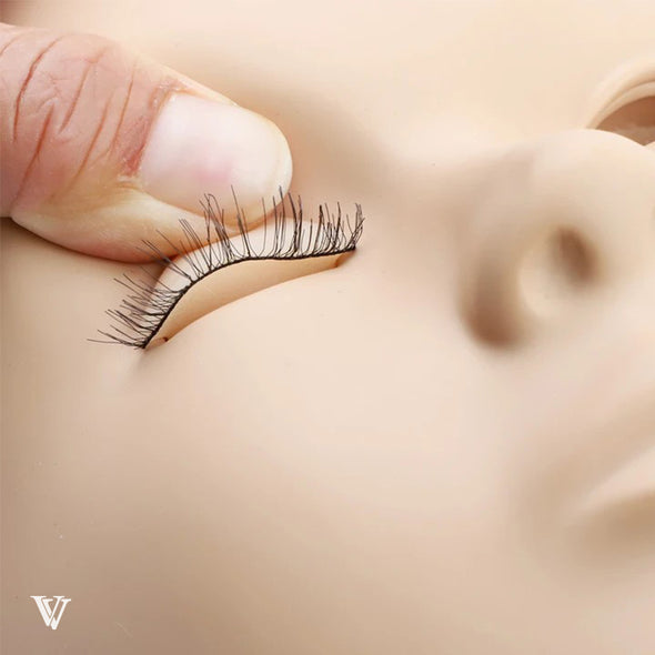 Eyelash Extensions Mannequin and Eyelids Training Combo Pack