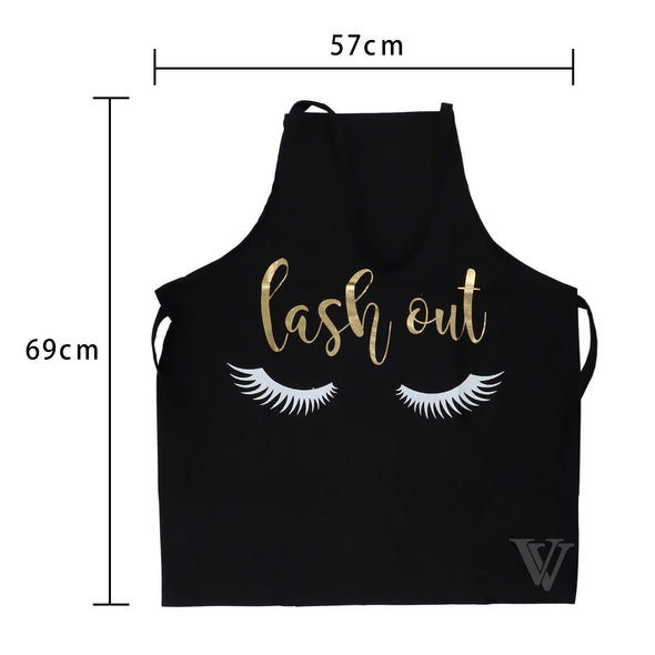Embroidered Black Lash Out Apron