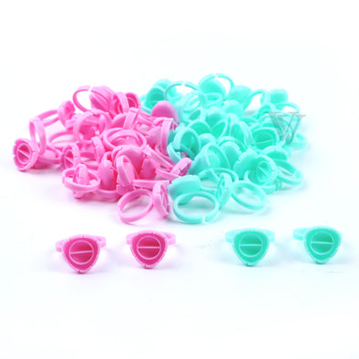 100 pcs Blooming Flower-Shaped Glue Cup
