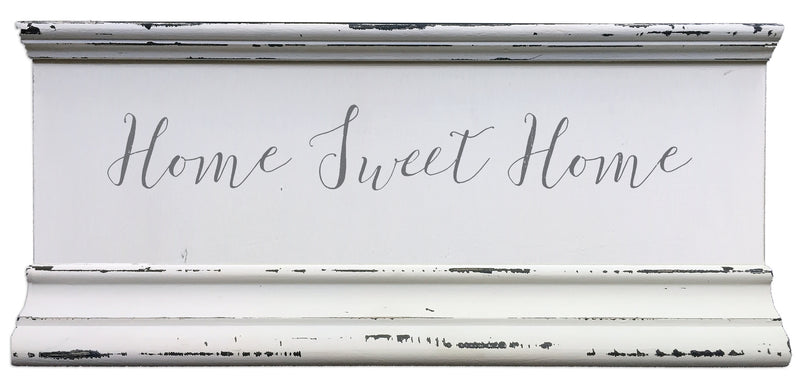 6 X 12 Box Sign Home Sweet Home Molding 6X12 Box Sign