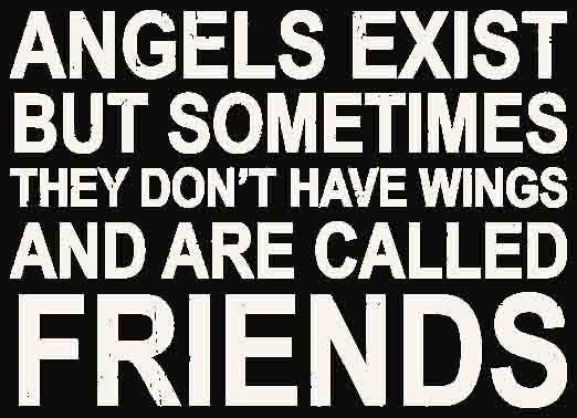 5 X 7 Box Sign Angels Exist But Sometimes They Dont Have Wings And Are Called Friends