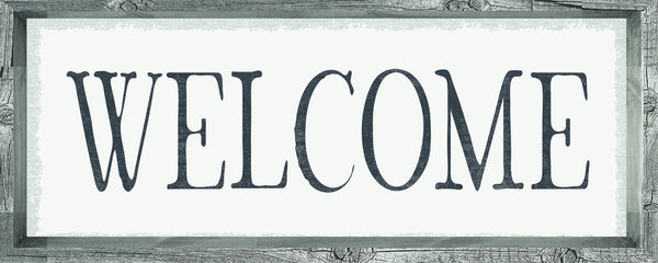 4 X 10 Box Sign Welcome