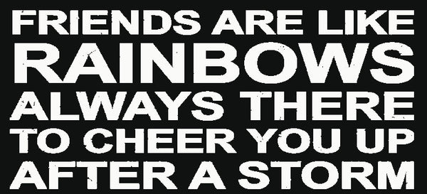 5 X 11 Box Sign Friends Are Like Rainbows Always There To Cheer You Up After A Storm
