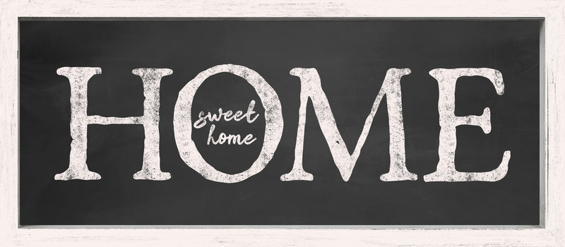 7 X 16 Box Sign Home Sweet Home Framed