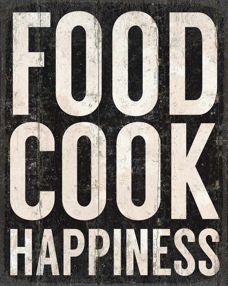 11  X  14 Box Sign Food Cook Happiness