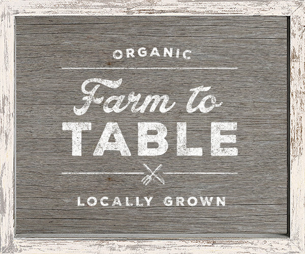 10 X 12 Box Sign Organic Farm To Table Locally Grown