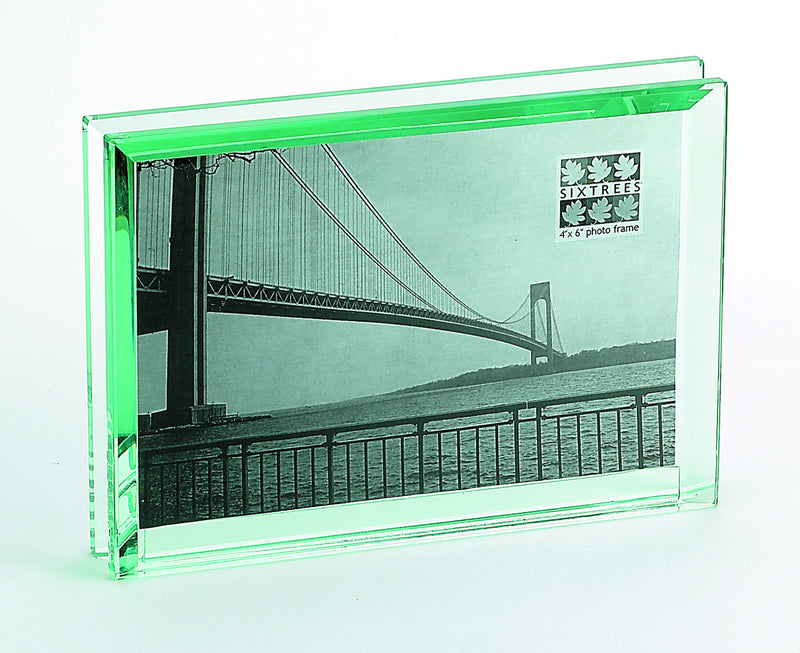 Emerald Cut Glass Picture Frame