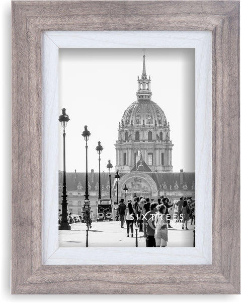 5 X 7 Gray & White Picture Frame Shelby