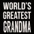 World's Greatest Grandma - 6X6 Wood Box Sign