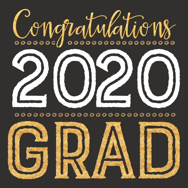 Congratulations 2020 Grad - 6X6 Box Sign