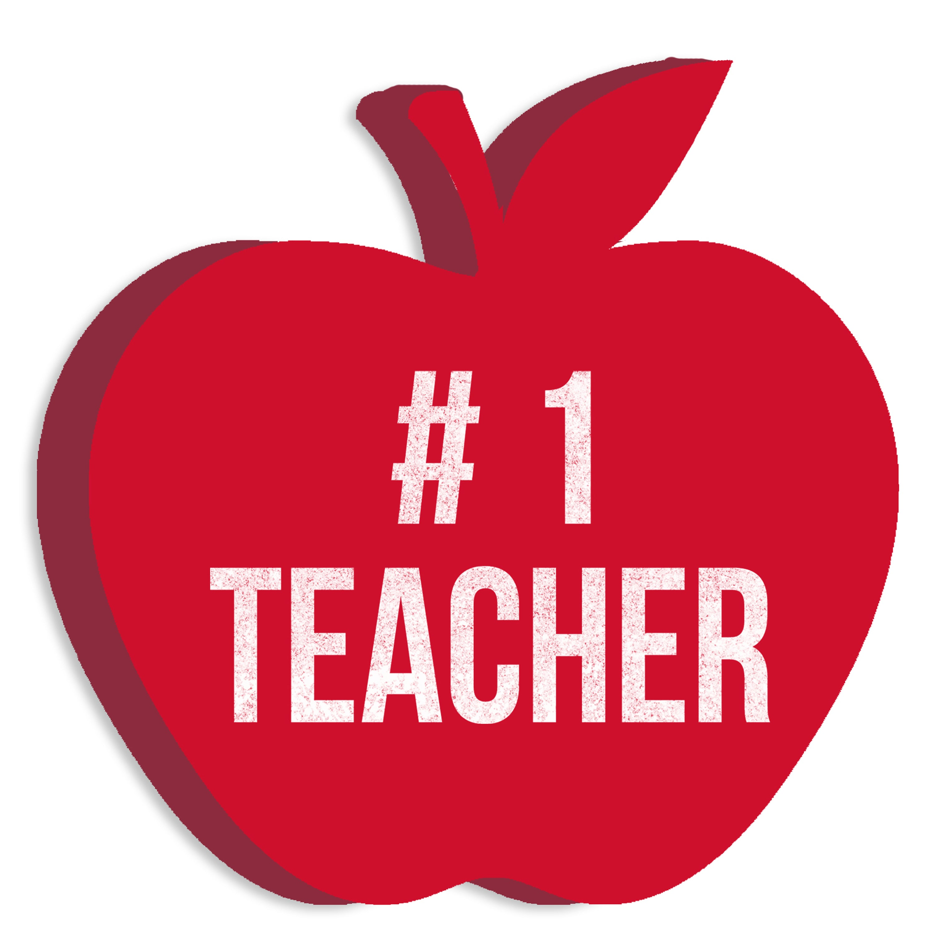Choose from 21 Sizes Teacher Apple Sign Wood Cut Out