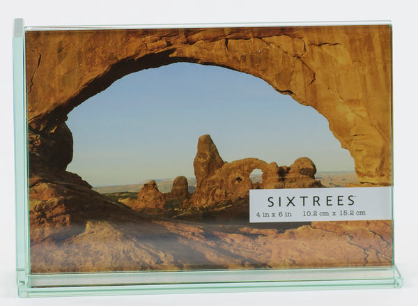 Glass 5X7 inch horizontal clear picture frame