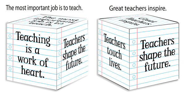 Important Job Teacher Cube - 4X4 Square Cube