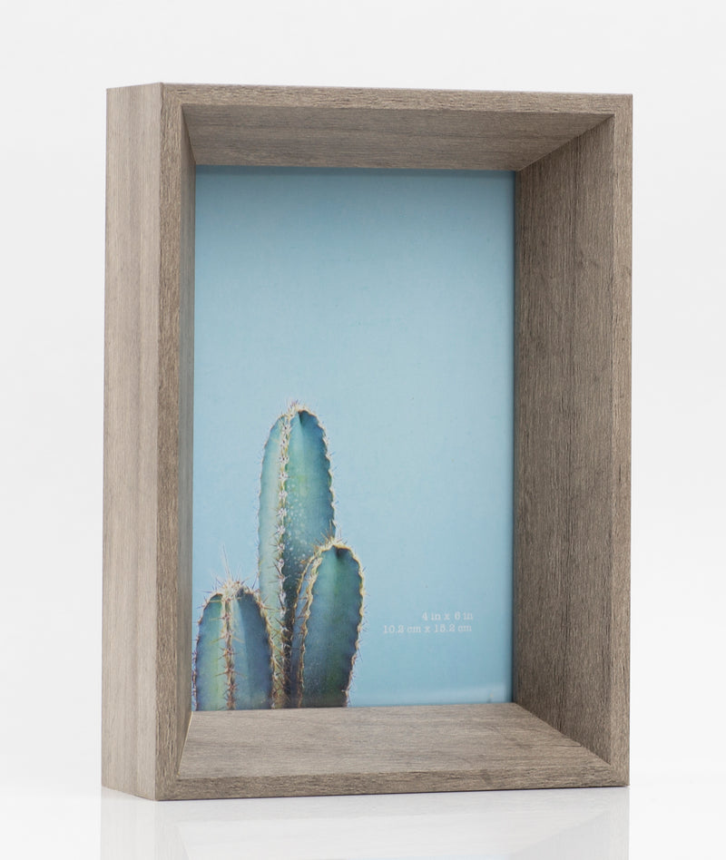 8X10 Stark Deep Depth Gray Brown Picture Frame from Sixtrees