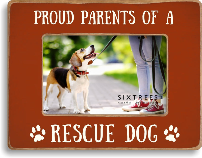 4 X 6 Box Sign Proud Parents Of A Rescue Dog