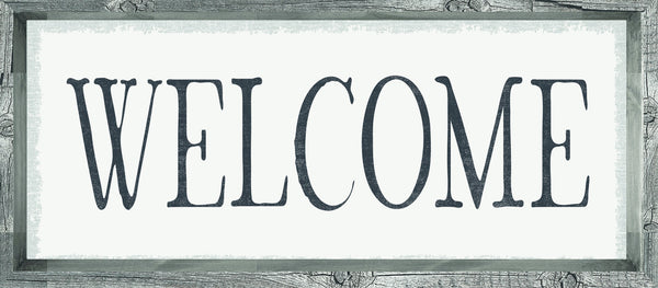 7 X 16 Box Sign Welcome