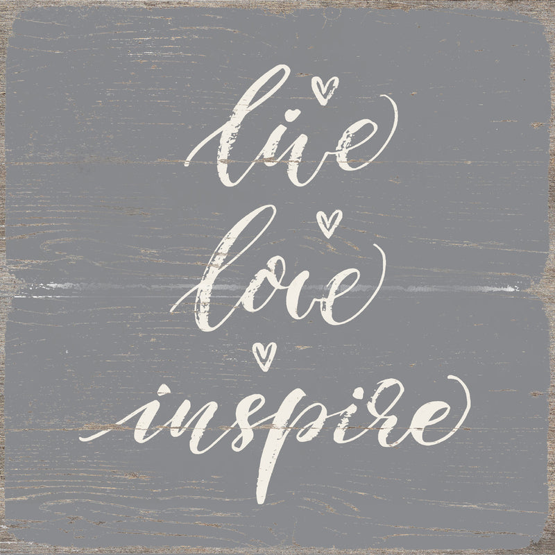 8 X 8 Box Sign Live Love Inspire