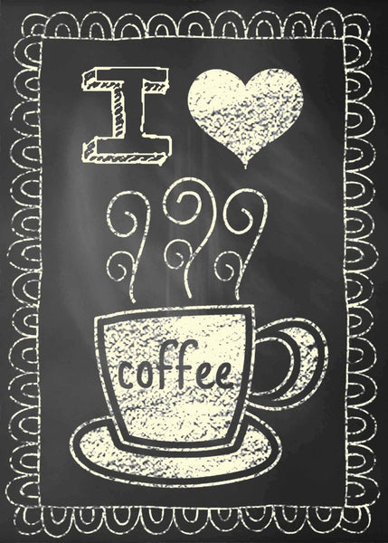 5 X 7 Box Sign I Coffee