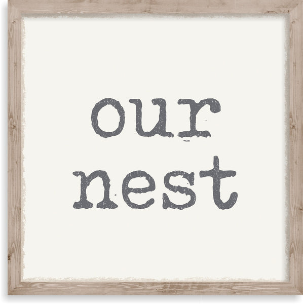 10 X 10 Box Sign Our Nest Framed
