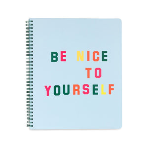 Be Nice to Yourself rough draft, Large Notebook - Obxequio