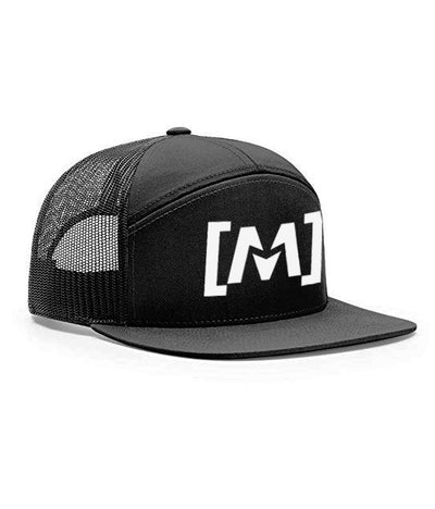 Montra Snapback Trucker Hat Black - Bracket