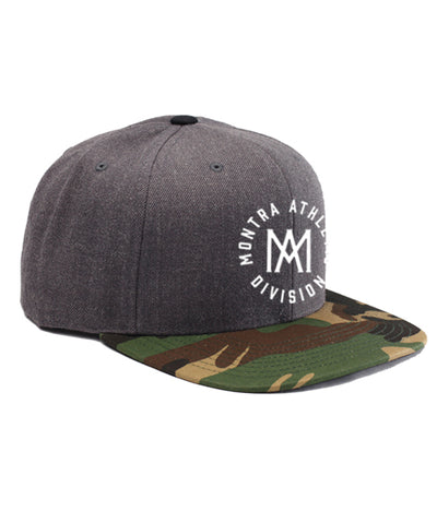 Montra Snapback Hat Charcoal/Camo - Athletic Division