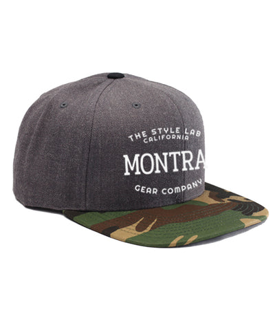 Montra Snapback Hat Charcoal/Camo - Style Lab