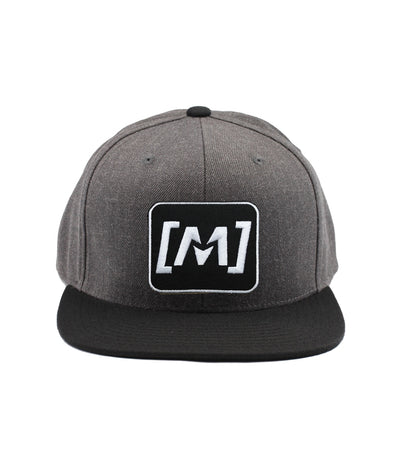 Montra Snapback Hat Black/Charcoal - Patch