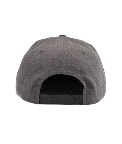 Montra Snapback Hat Black/Charcoal - Circle