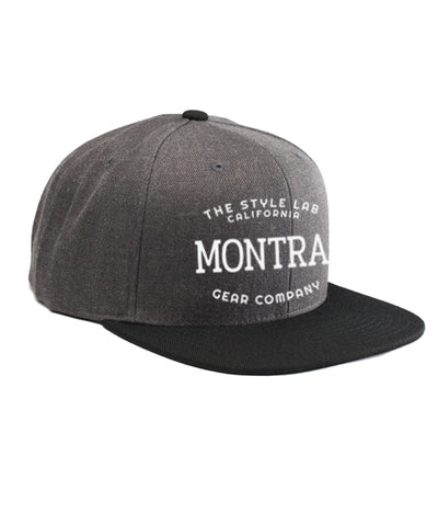Montra Snapback Hat Black/Charcoal - Style Lab