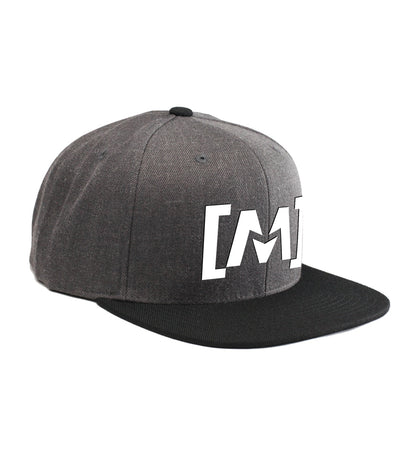 Montra Snapback Hat Black/Charcoal - Bracket
