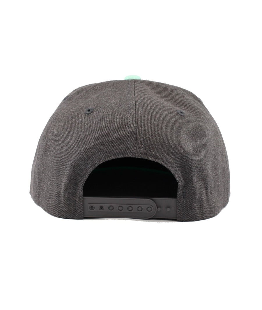 Montra Snapback Hat Teal/Charcoal - Bracket